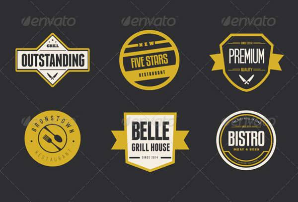 vintage restaurant logo badges