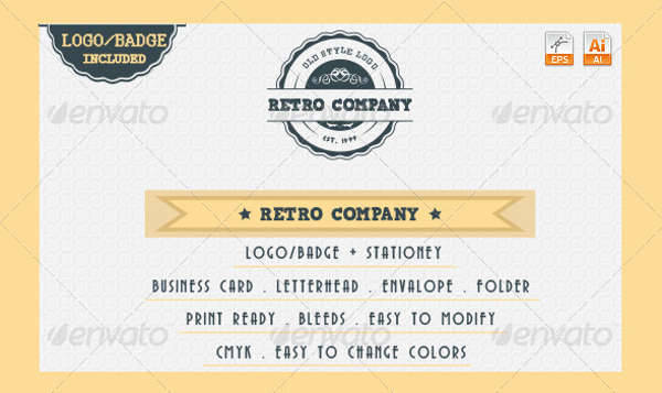 Vintage & Retro Company Logo