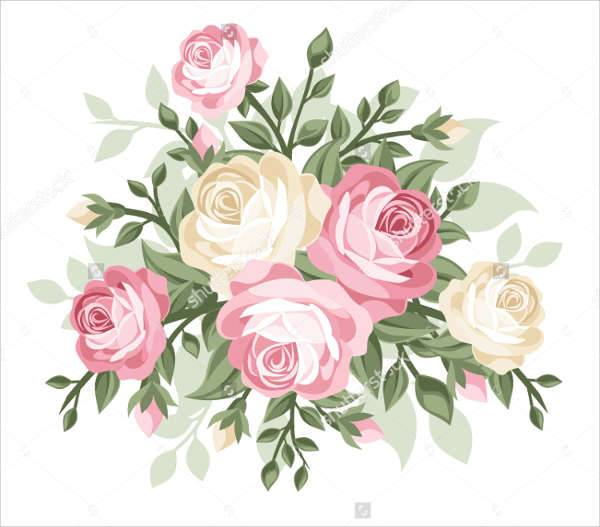 Vintage Rose Illustration