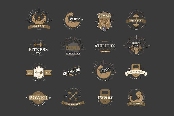 Vintage Sports Logo Emblems