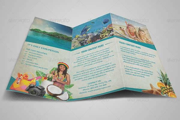 Vintage Travel Brochure Trifold