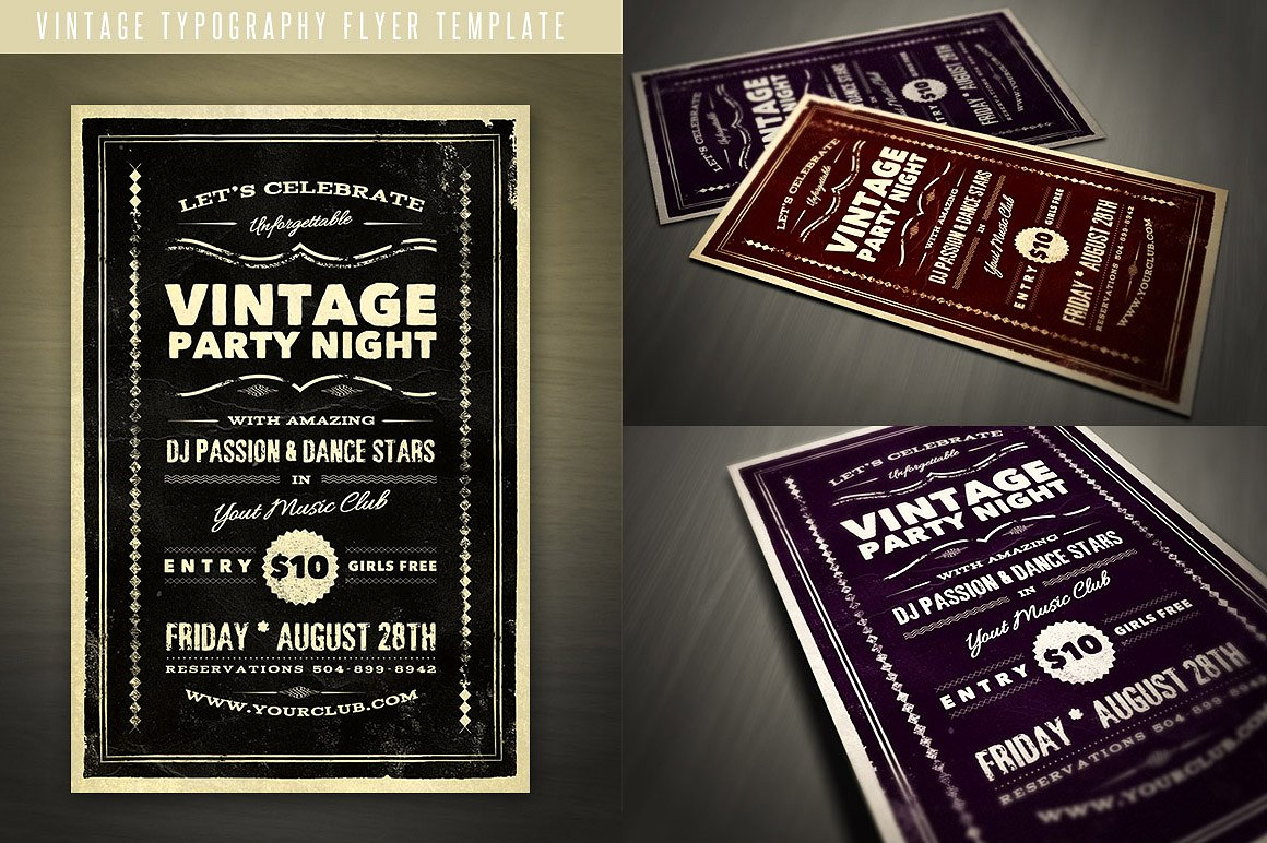 Vintage Typography Flyer