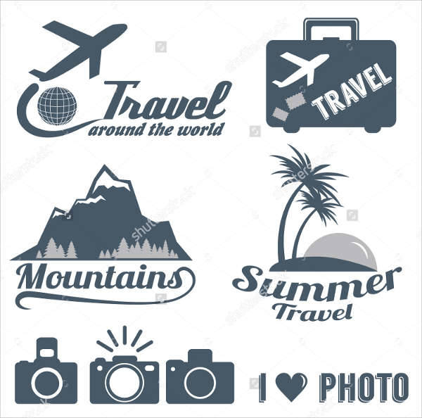 vintage vacation travel logo