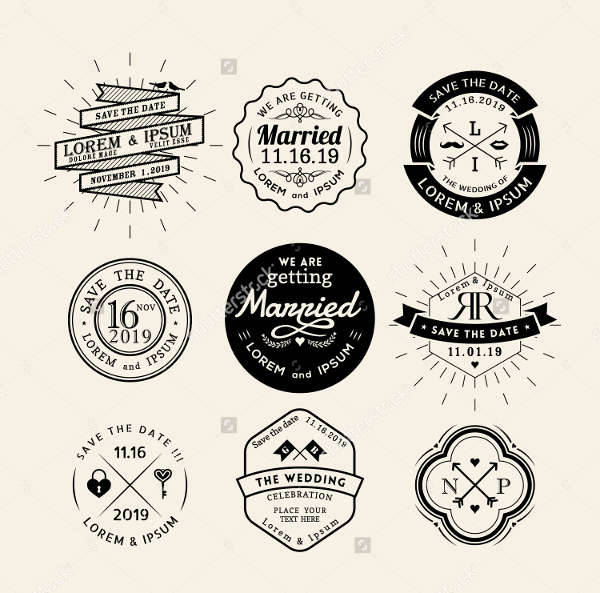 Vintage Wedding Logo Vector
