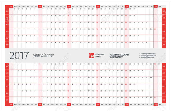 Wall Calendar Planner Template