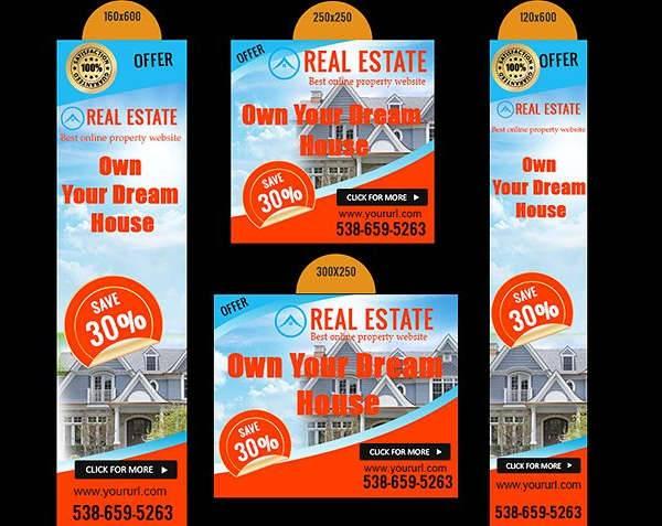 web real estate banner ads