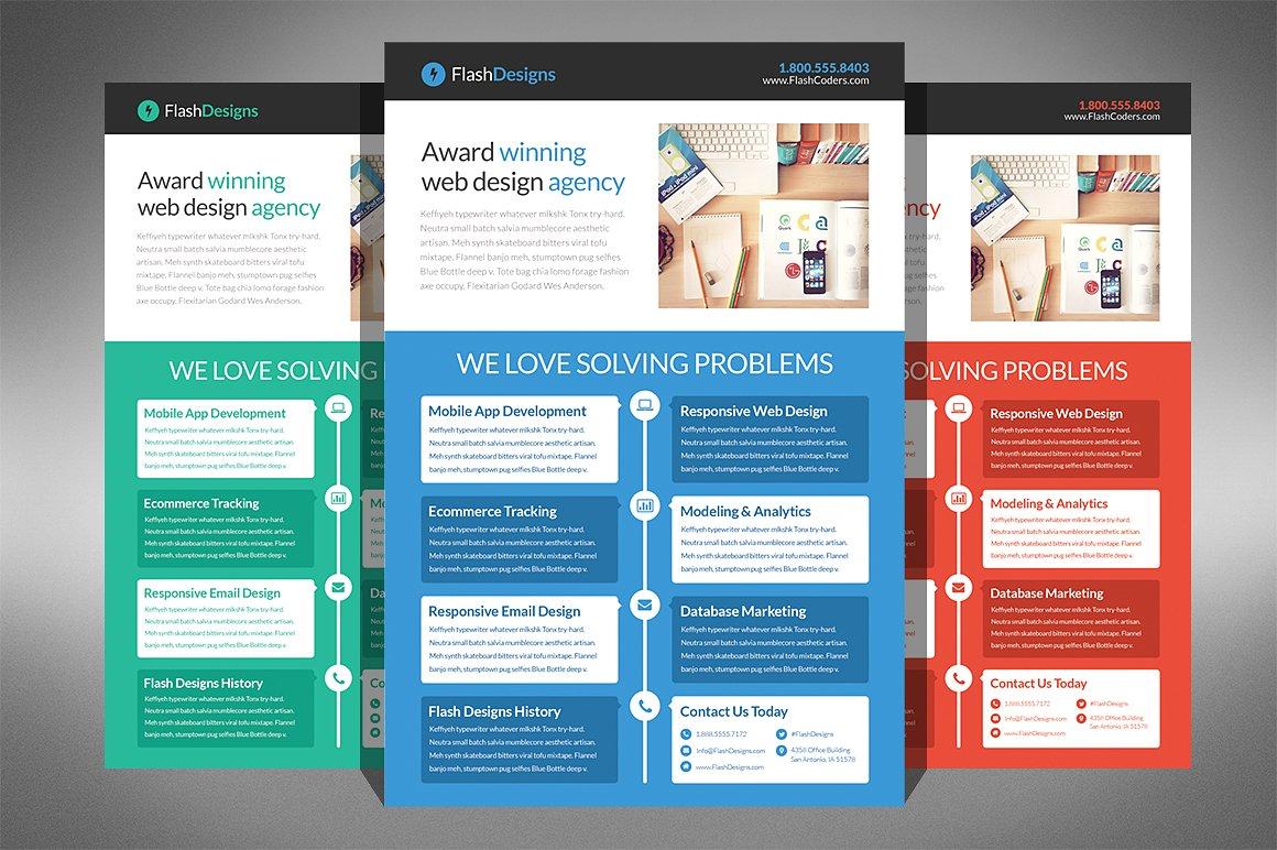 Website Design Agency Flyer