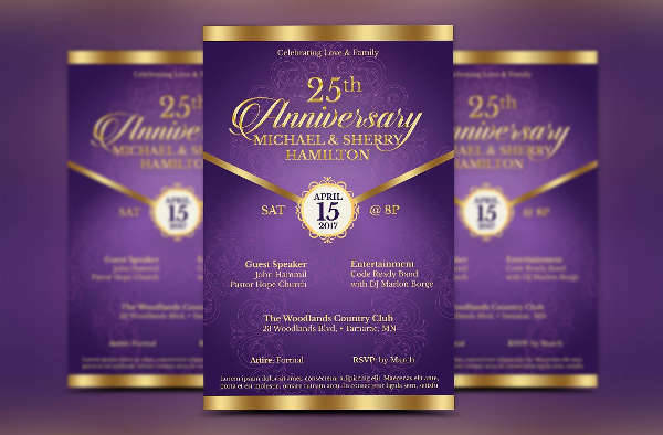 wedding anniversary gala flyer