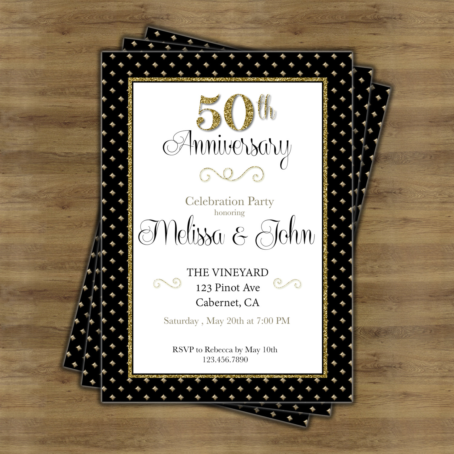 Wedding Anniversary Party Card