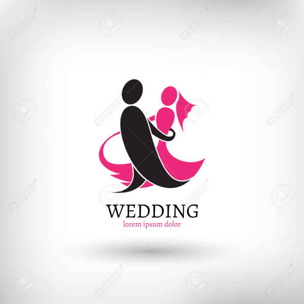 Wedding Couple Logo Vector