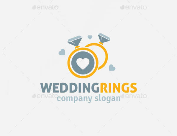 Wedding Couple Rings Logo