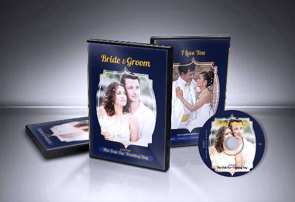wedding dvd box template
