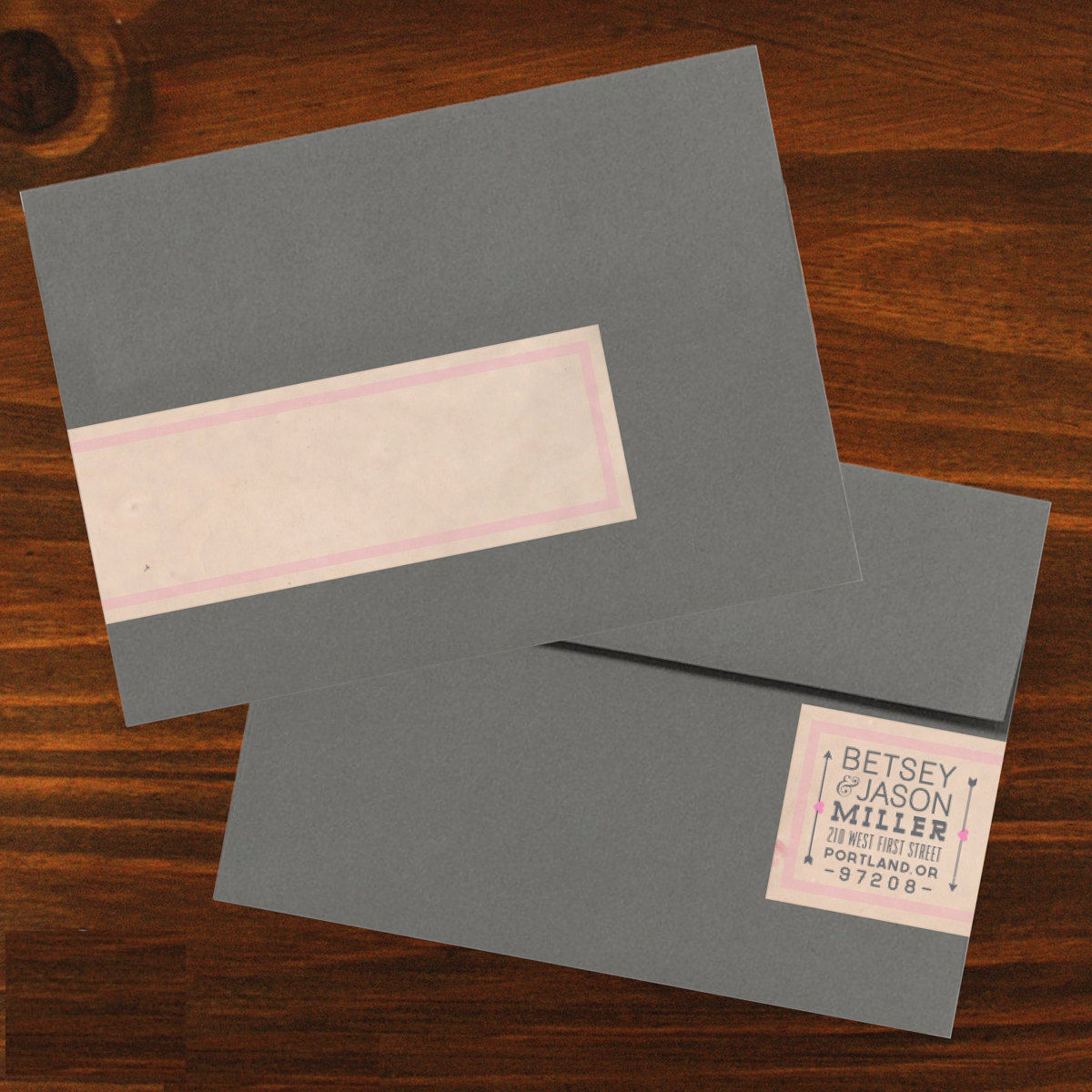 wedding envelope label
