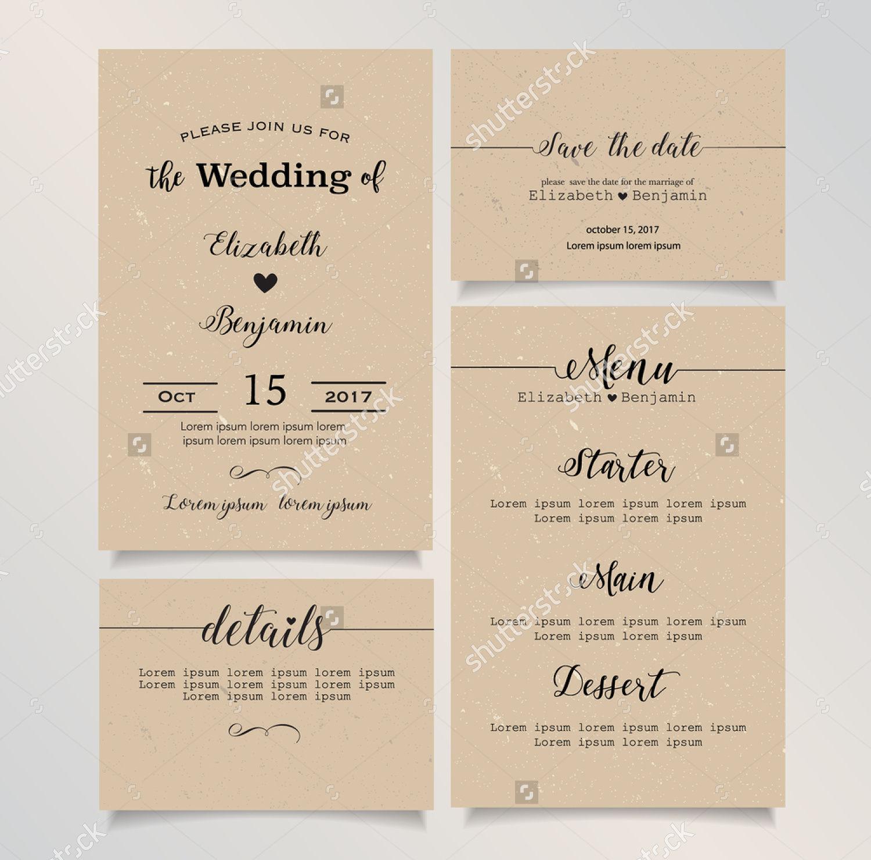 wedding invitation menu card