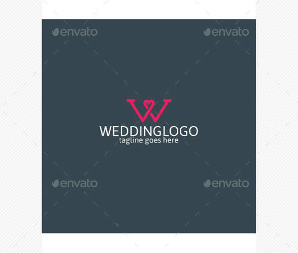 Wedding Letter Logo PSD