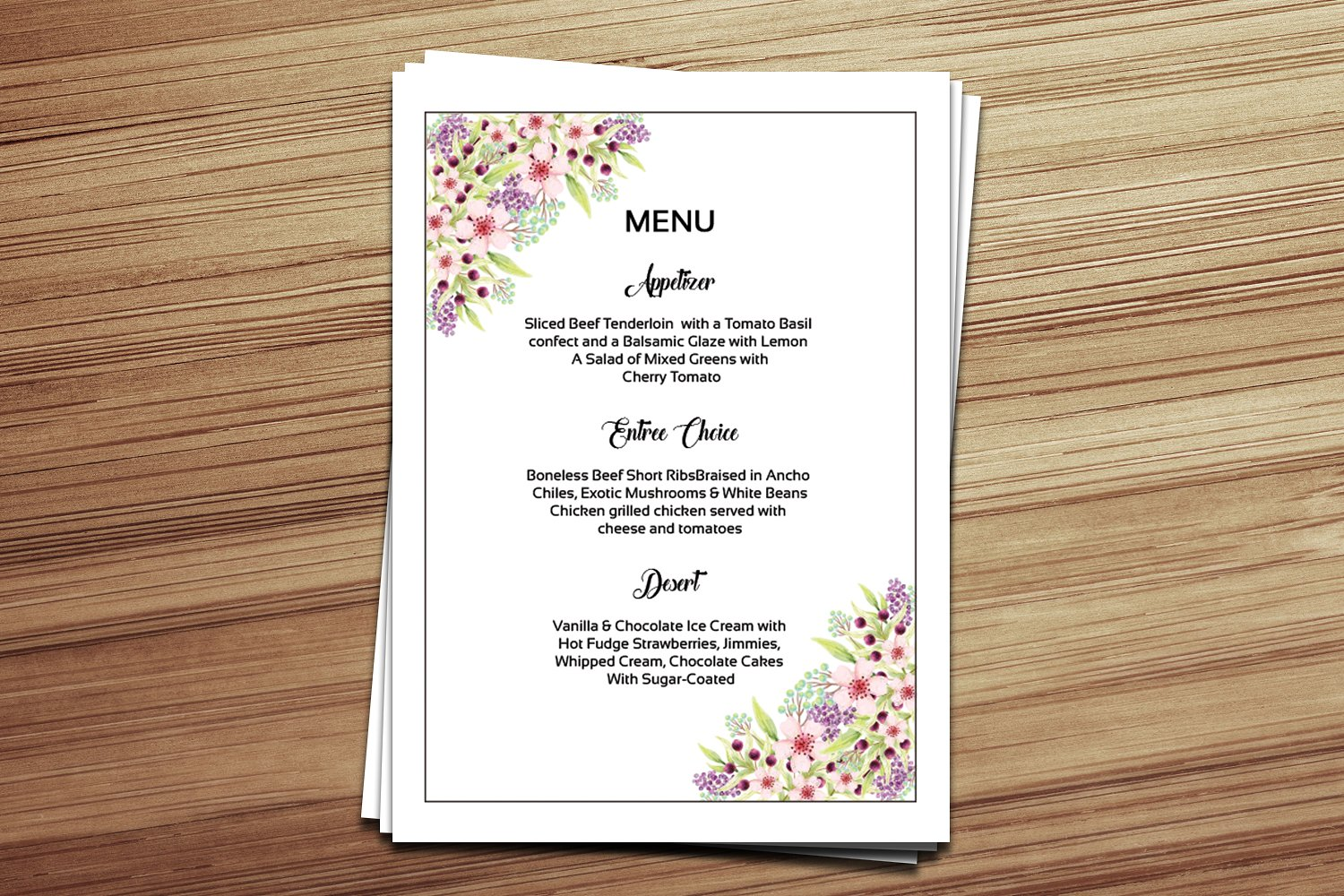 15 wedding menu card designs design trends premium for Menu templates for weddings