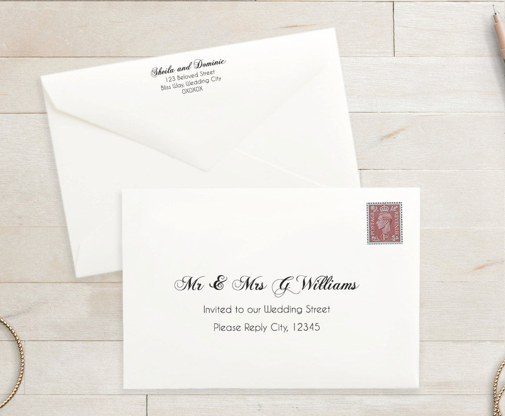 wedding rsvp envelope