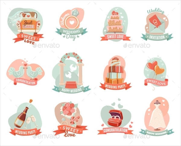 wedding and engagement stickers