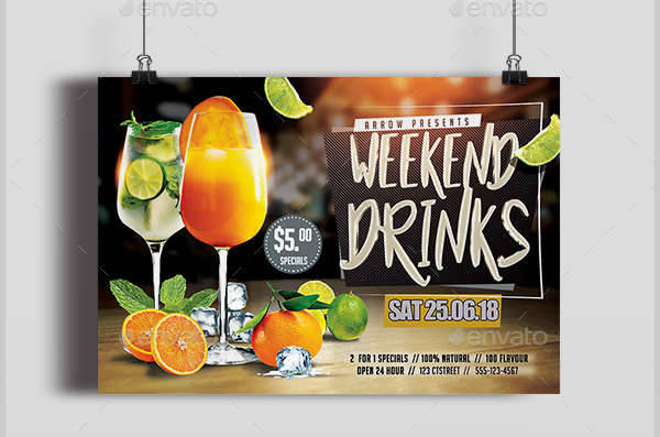 Weekend Drink Party Flyer