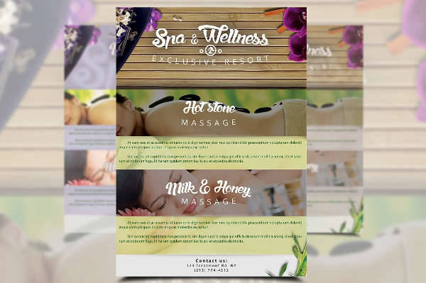 Wellness Spa Flyer Design