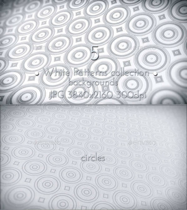 white abstract patterns