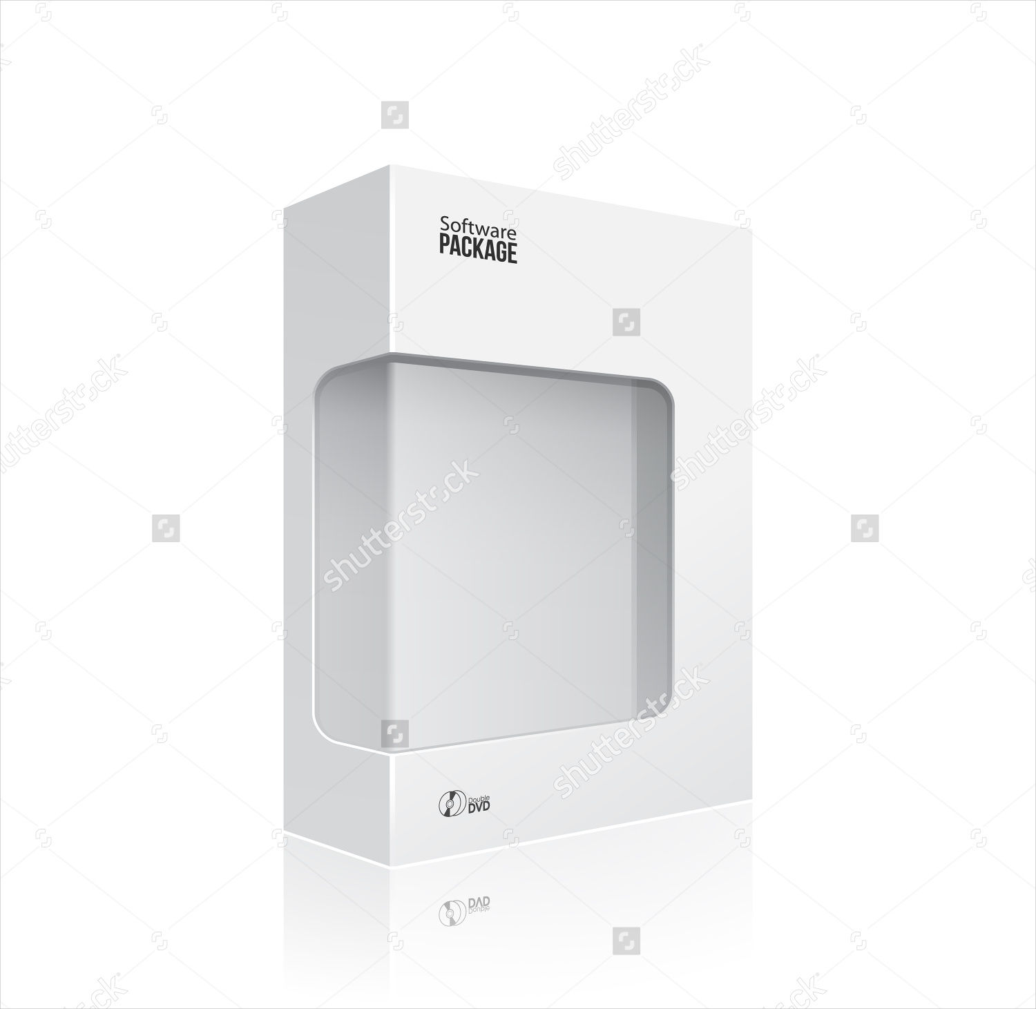 white package box with disk