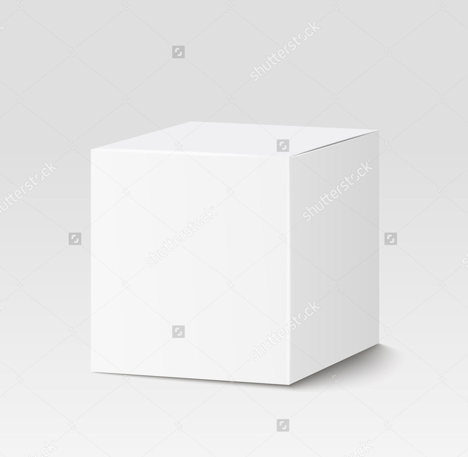 white square cardboard box packaging