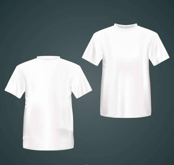 white t shirt vector