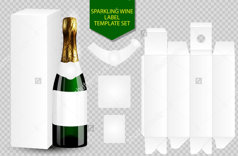 wine bottle packaging label