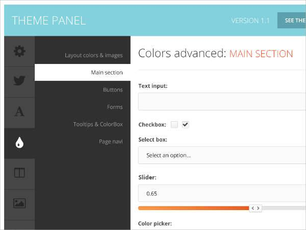 wordpress admin panel theme
