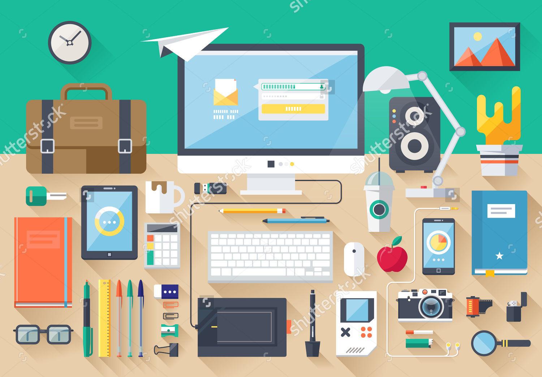workspace design vector