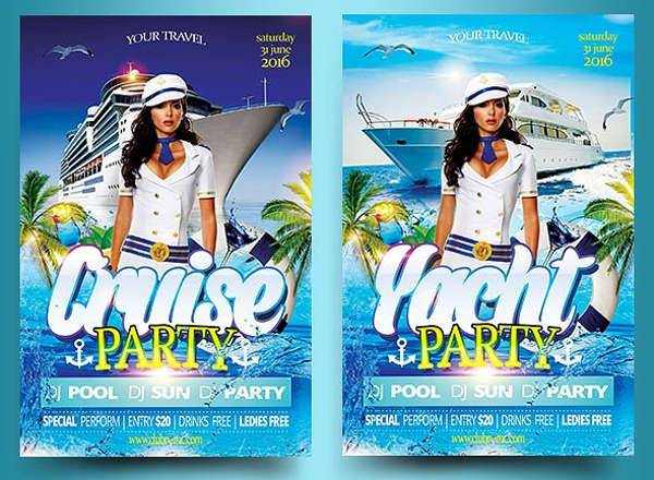 Yacht Cruise Party Flyer PSD