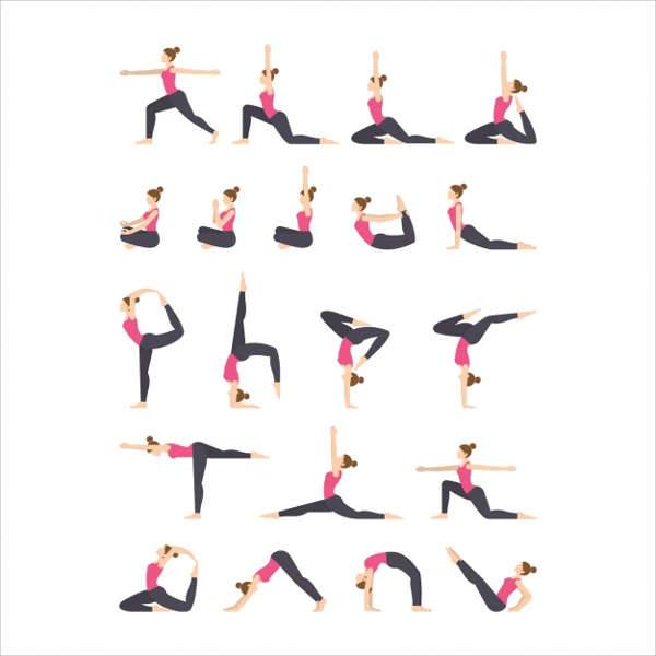 Yoga Exercise Icons