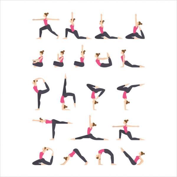 yoga exercise icons