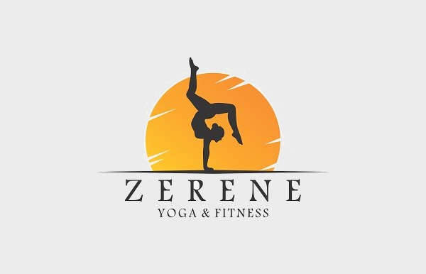 yoga fitness logo template