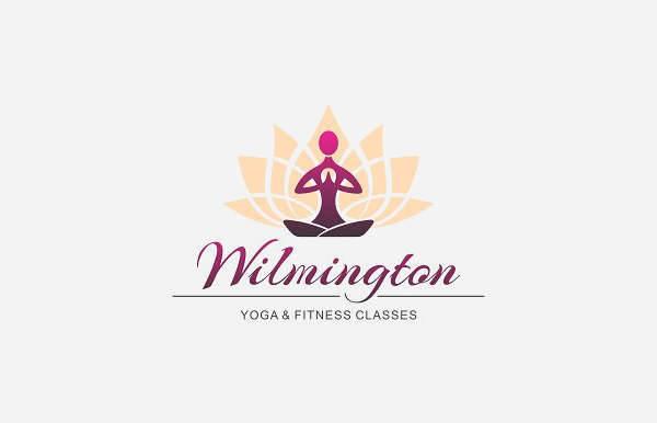 yoga fitness logo vector