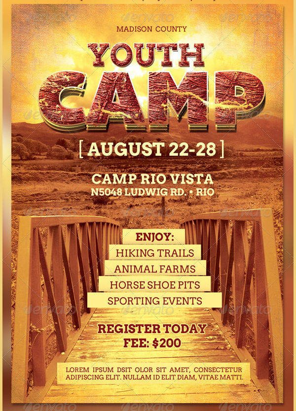 Youth Camp Flyer Design