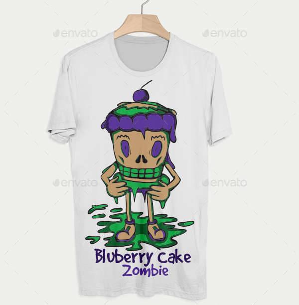zombie t shirt cake