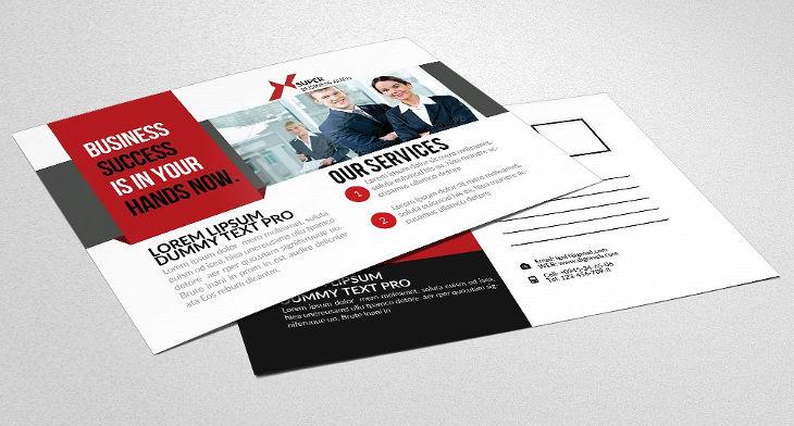 postcard advertising template