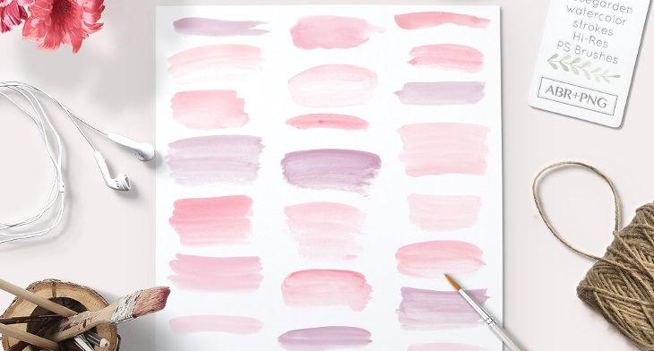 31+ Watercolor Photoshop Brushes | Design Trends - Premium