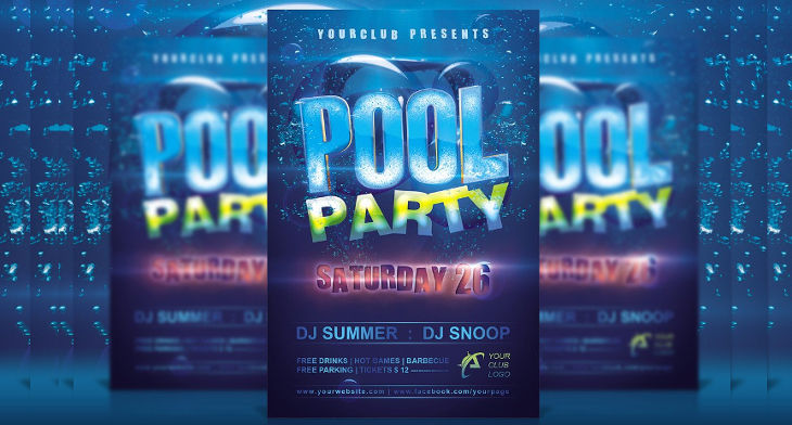 10 pool party flyer designs design trends premium psd vector
