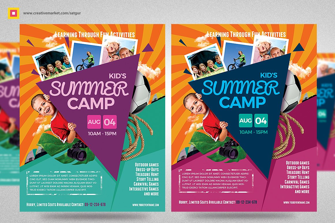 camp brochure template - 7 summer camp flyer designs design trends premium psd