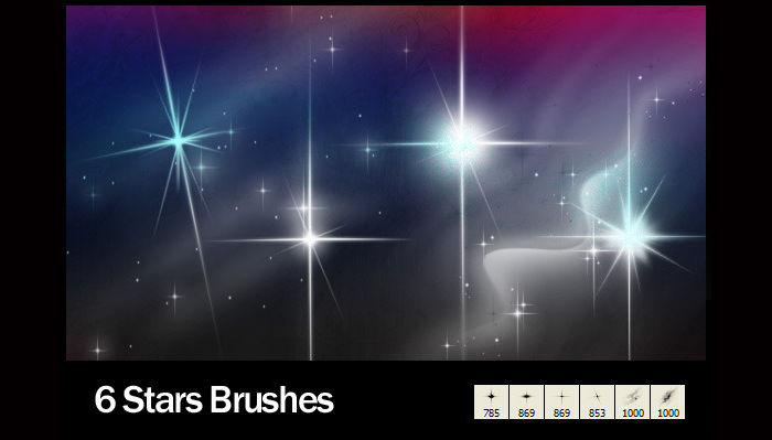 abstract star brushes