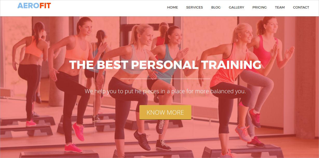 aerobic fitness wordpress theme