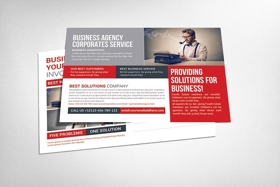 9+ Corporate Postcard Templates | Design Trends - Premium PSD ...