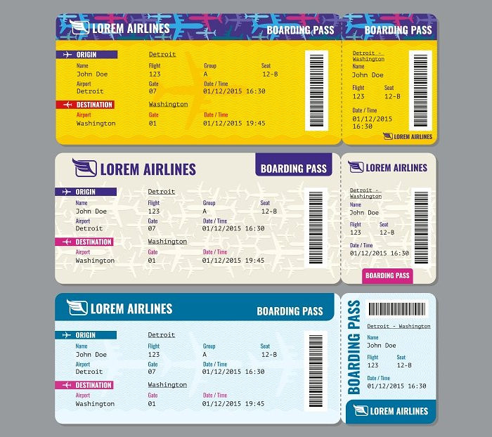 Airplane Vector Travel Tickets