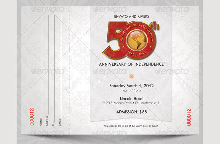 Anniversary Event Ticket