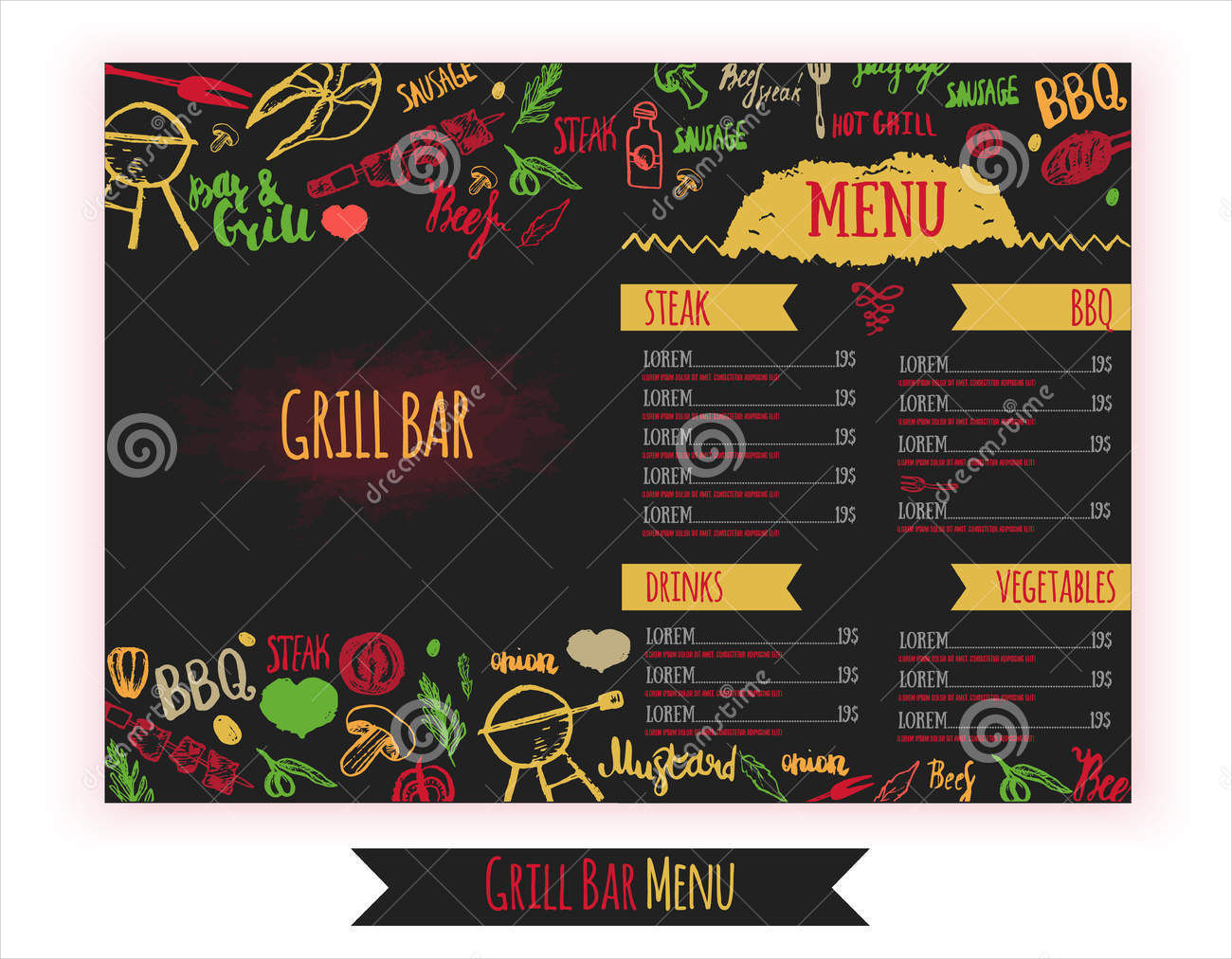 bbq bar flyer menu