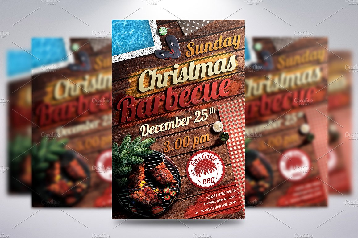 BBQ Christmas Flyer