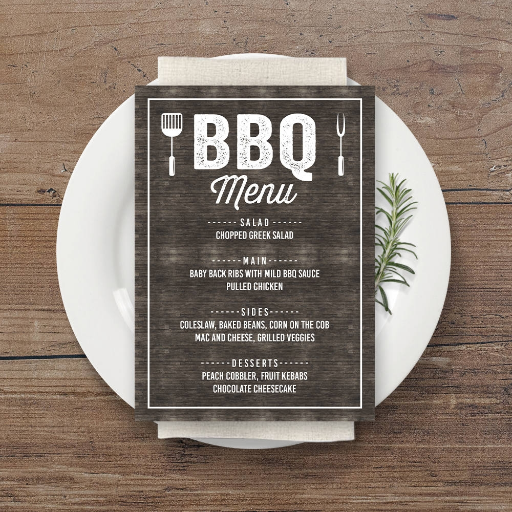 bbq party menu design